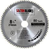 Saxton TCT Kreissägeblatt Holz Sägeblatt 210 mm x 30 mm x 80zReduzierringe für Festool, Dewalt, Bosch, Makita