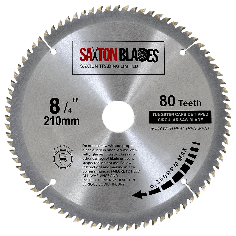 Saxton tct circular wood saw blade 210mm x 30mm x 80t for festool saxton tct circular wood saw blade 210mm x 30mm x 80t for festool dewalt bosch makita etc amazon diy tools greentooth Choice Image