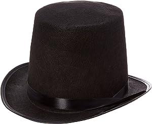 Rhode Island Novelty Black Felt Top Hat