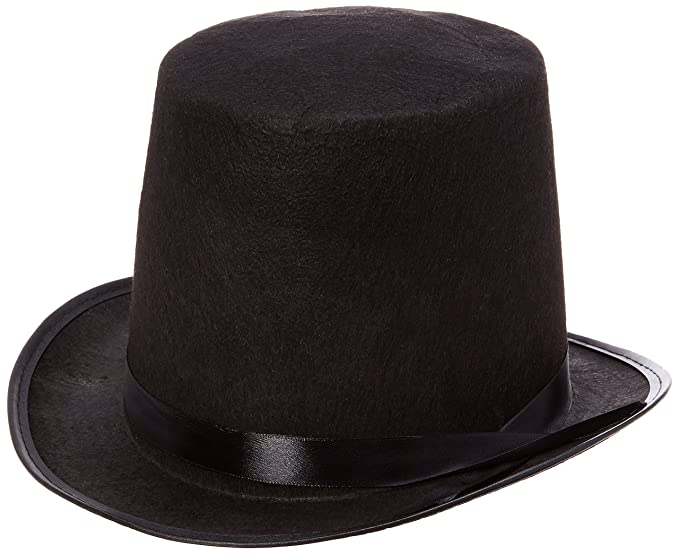 5fb257b6f8540d Amazon.com: Rhode Island Novelty Black Felt Top Hat: Toys & Games