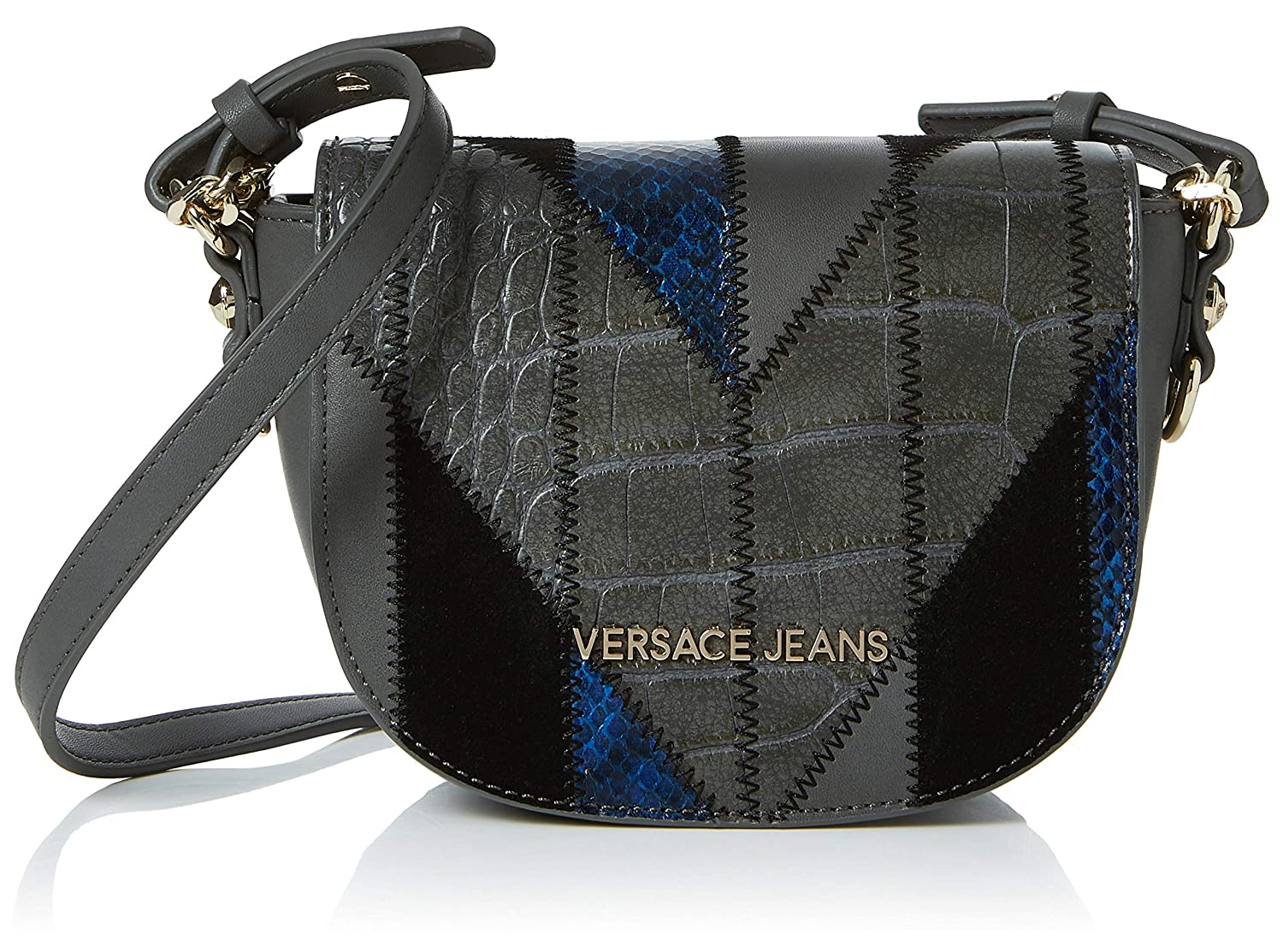 8715390d18 Amazon.com: Versace EE1VSBBP2 E829 Grey/Blue Shoulder Bag for Womens: Shoes