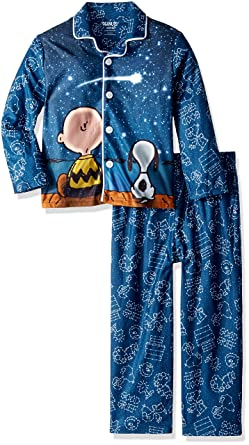 Amazon.com  Peanuts Big Boys  Galaxy Coat Style Pajama Set 03433f341