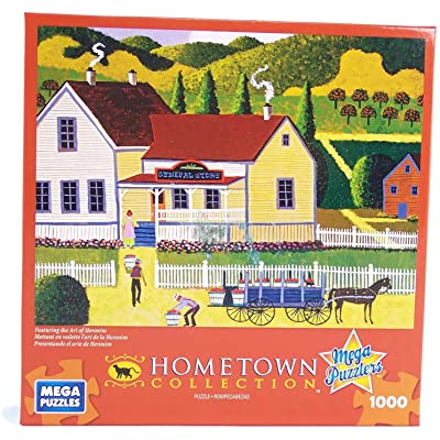Hometown Collection General Store 1000 Piece Jigsaw Puzzle By Heronim: Toys & Games