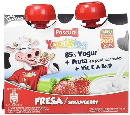 Pascual Yogur Liquido de Fresa - Paquete de 2 x 80 gr - Total: 160