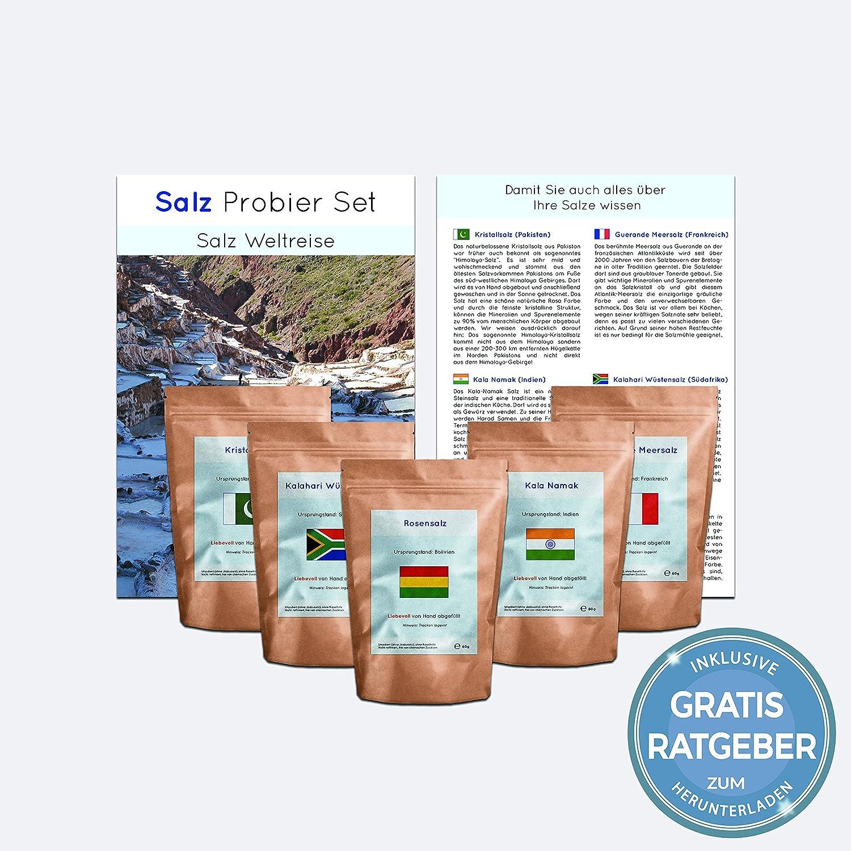 Gourmet Salz Set Gourmetsalze aus aller Welt Probierset unbehandelte ...