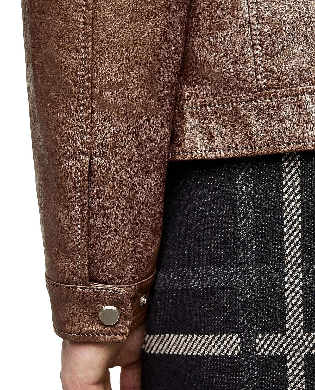 392d147f Zara Men Faux Leather Jacket 8281/460 at Amazon Men's Clothing store: