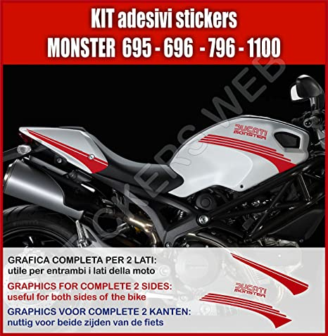Amazon Fr Stickers Ducati Monster 695 795 796 1100 Carenage