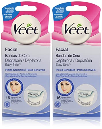 Veet Facial Wax Bands Set for Sensitive or Dry Skin - by Veet