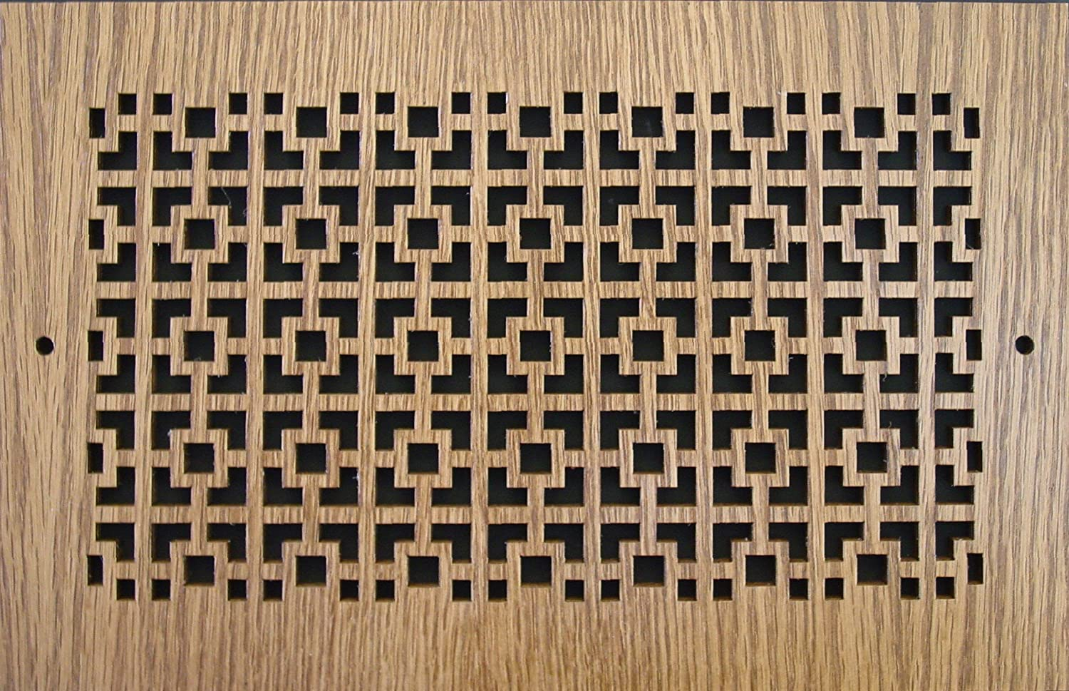 inches = 12 x 8 Pattern Cut Wood Grilles:1208 For Wall Opening Overall Size = 13-3//4 x 9-3//4 Oak Pattern A inches