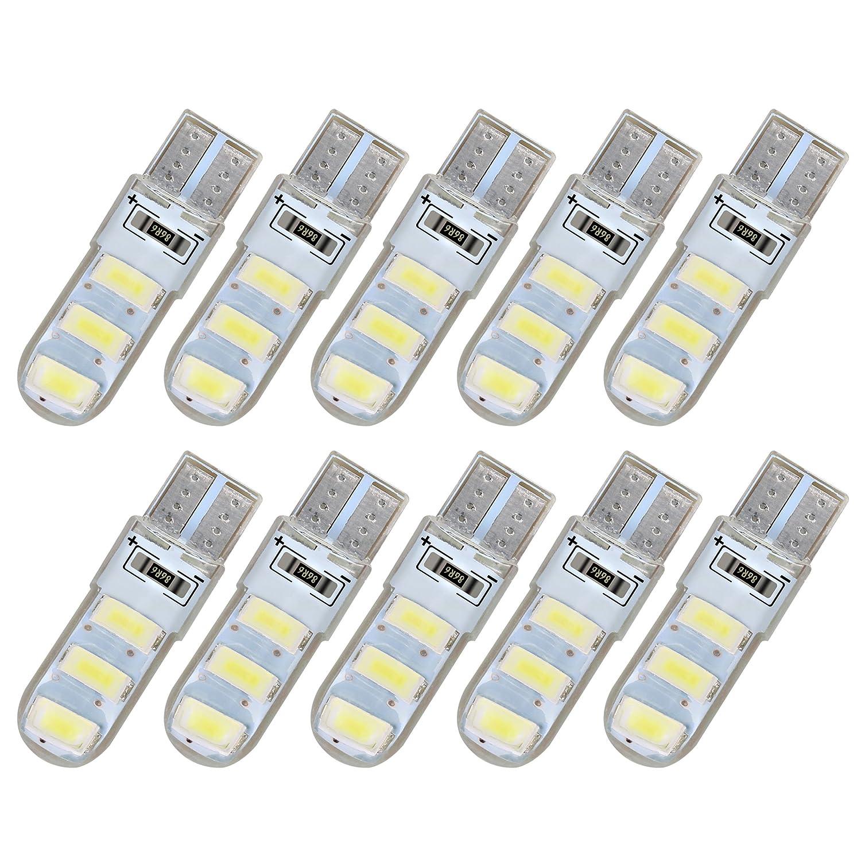 Voiture de lumi/ère 10/pcs Super blanc NEUF 5730/d/économie d/énergie Blanc Panneau LED Dome Lampe AUTO Int/érieur de voiture /étanche lumi/ère pour W5/W 194/168/2825/Toit BA9S//T10/