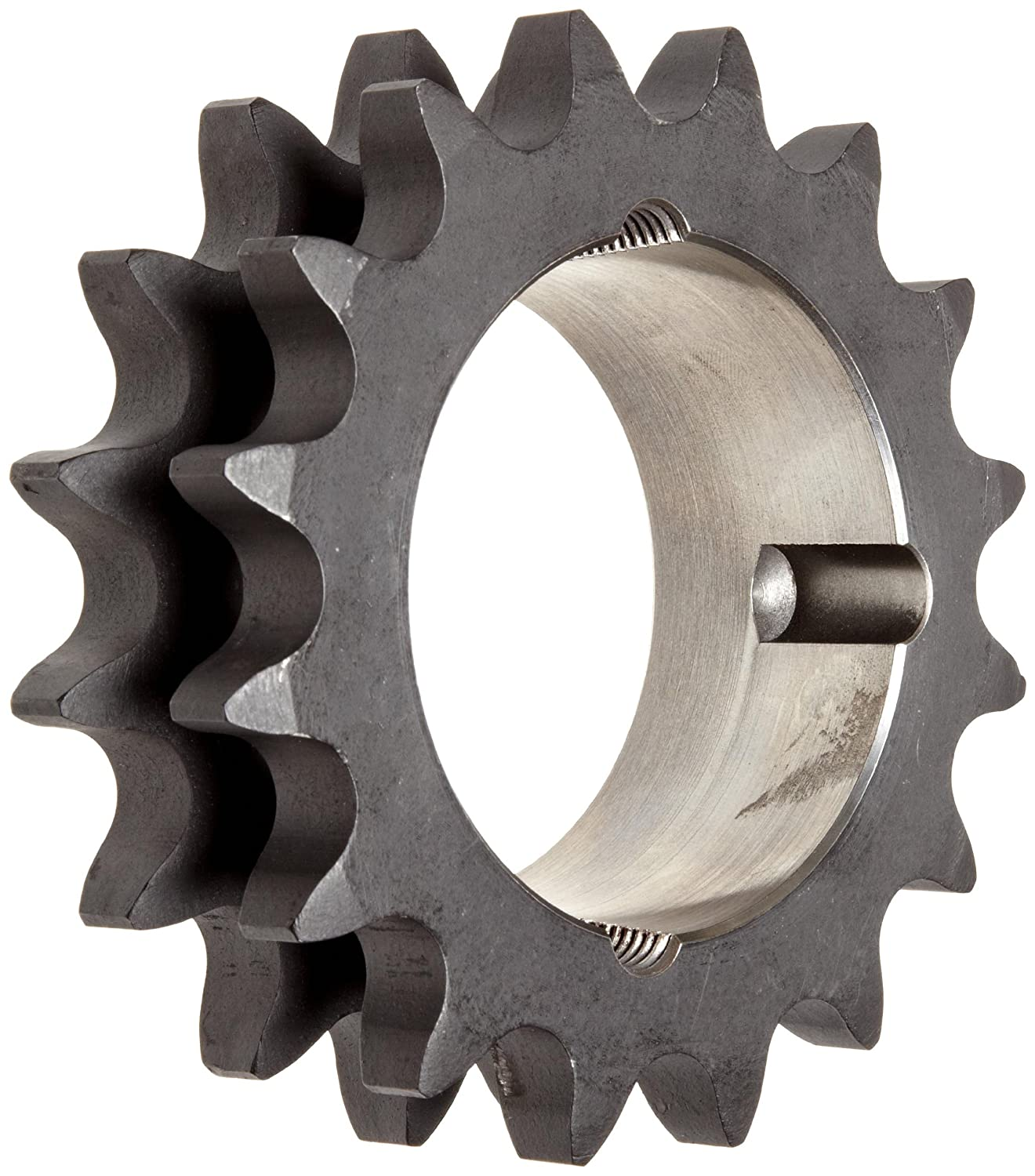 Taper Bushed Type A Hub For 1615 Bushing Martin Roller Chain Sprocket Double Strand 1.71 Width 13 Teeth 1 Pitch Hardened Teeth 4.657 OD 1.625 Max Bore Dia. 80 Chain Size