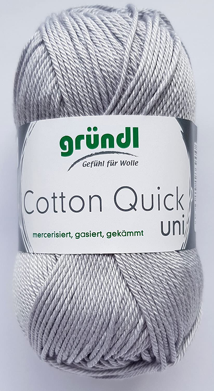 Cotton Quick Gr/ündl Wolle 100 /% Baumwolle 50 g Farbe 01
