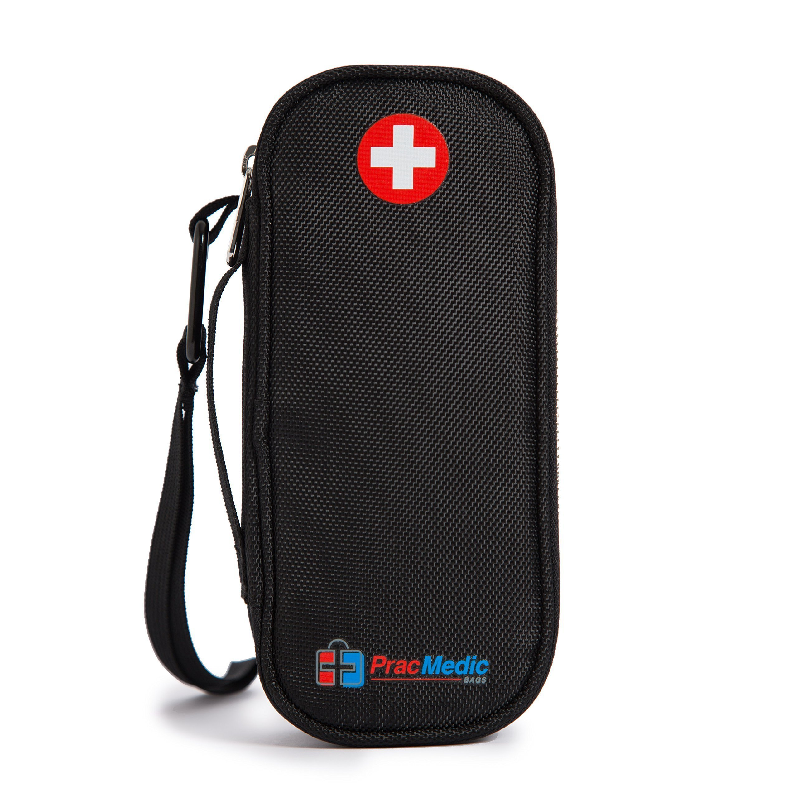 EPIPEN Case - fits 2 Epi Pens or Auvi-Q, Asthma Inhaler, generic Benadryl, Nasal Spray, Eye Drops, Medicine. INSULIN Case - fits 2 Insulin Pens, Vials, Syringes, Ice Packs (Black)