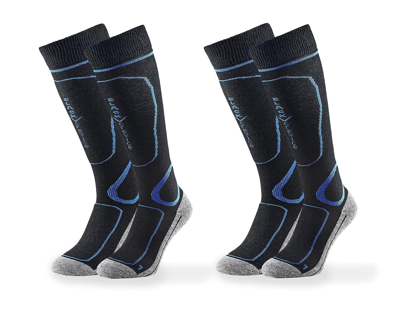 Black//Blue 39/ /42 Black Crevice Hombre 2/Pares Blue Calcetines de esqu/í
