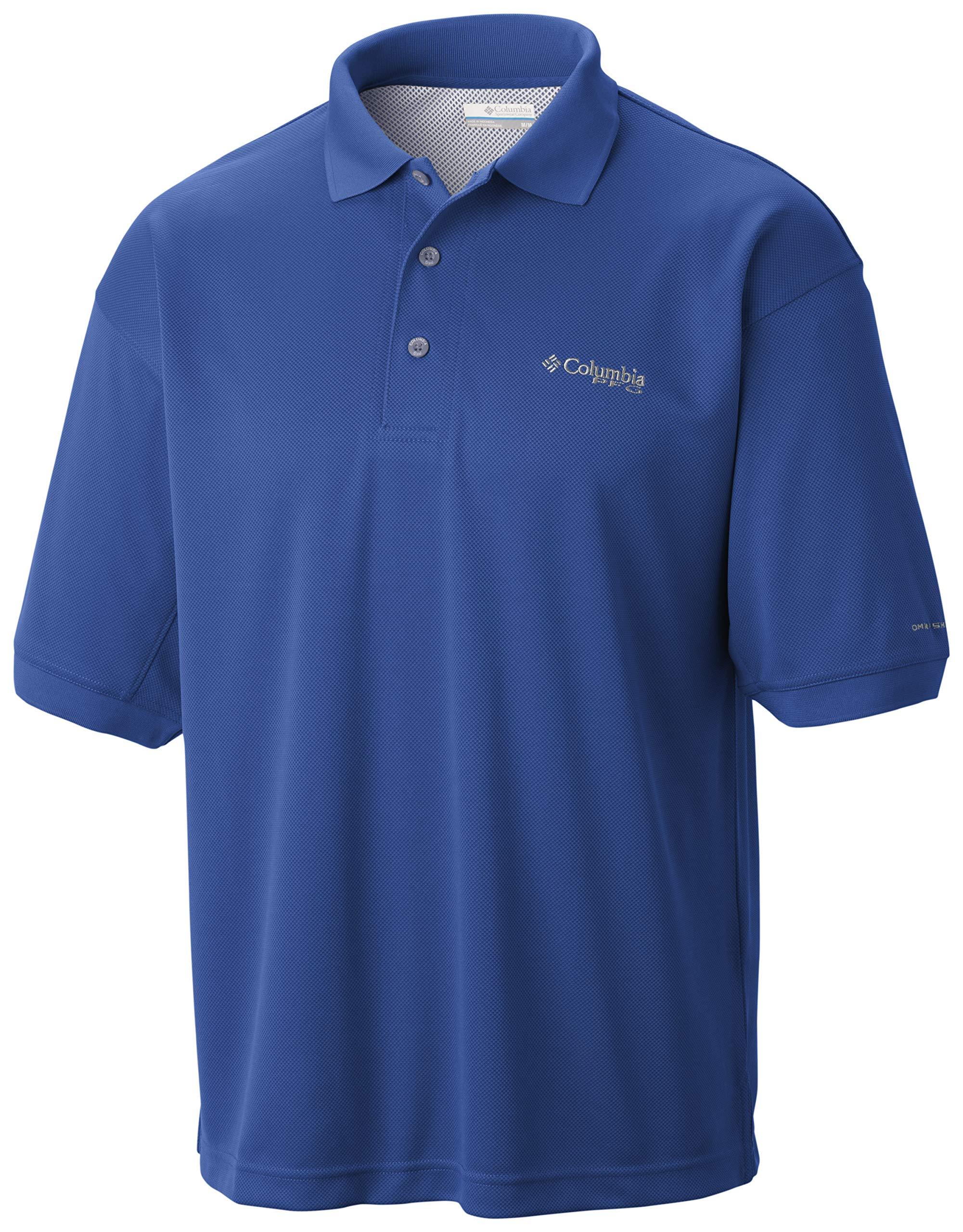 Columbia Sportswear Men's Perfect Cast Polo Shirt, Vivid Blue, 4X Tall