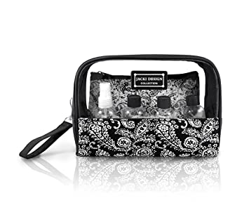 c10b621a848b Basico Women's Cosmetic Bag Set,tote Bag Set **Vary Size& Styles** (6 PC  Cosmetic bag and Travel Bottle...