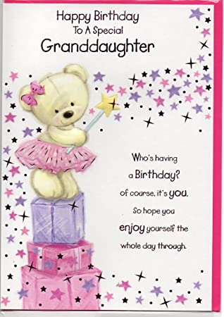 Granddaughter Birthday Card