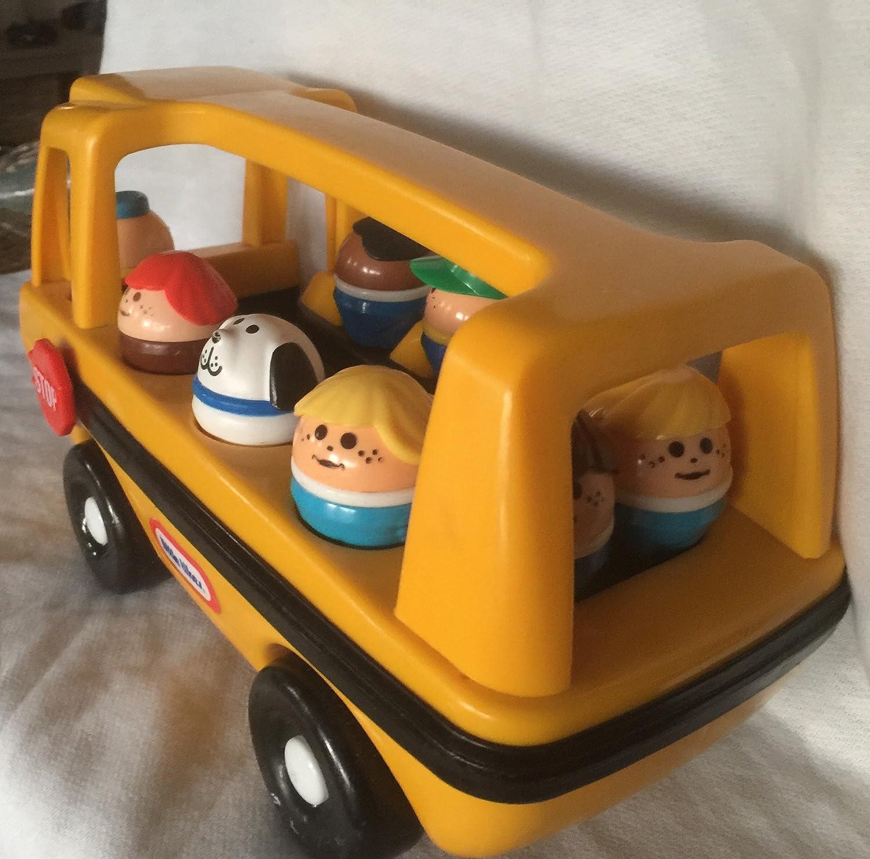 Amazon.com: Little Tikes Vintage School Bus W/9 People Toy: Toys & Games