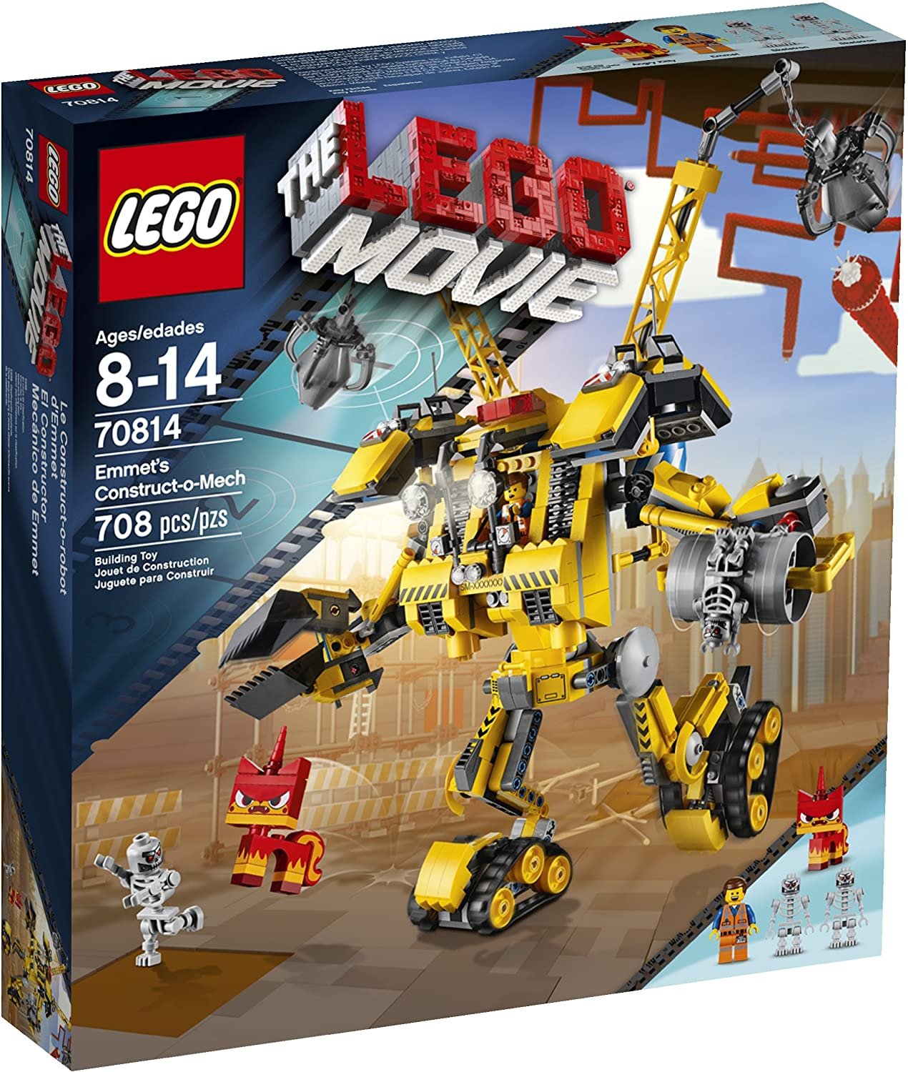 Amazon Com Lego Movie 70814 Emmet S Construct O Mech Building Set Discontinued By Manufacturer Toys Games