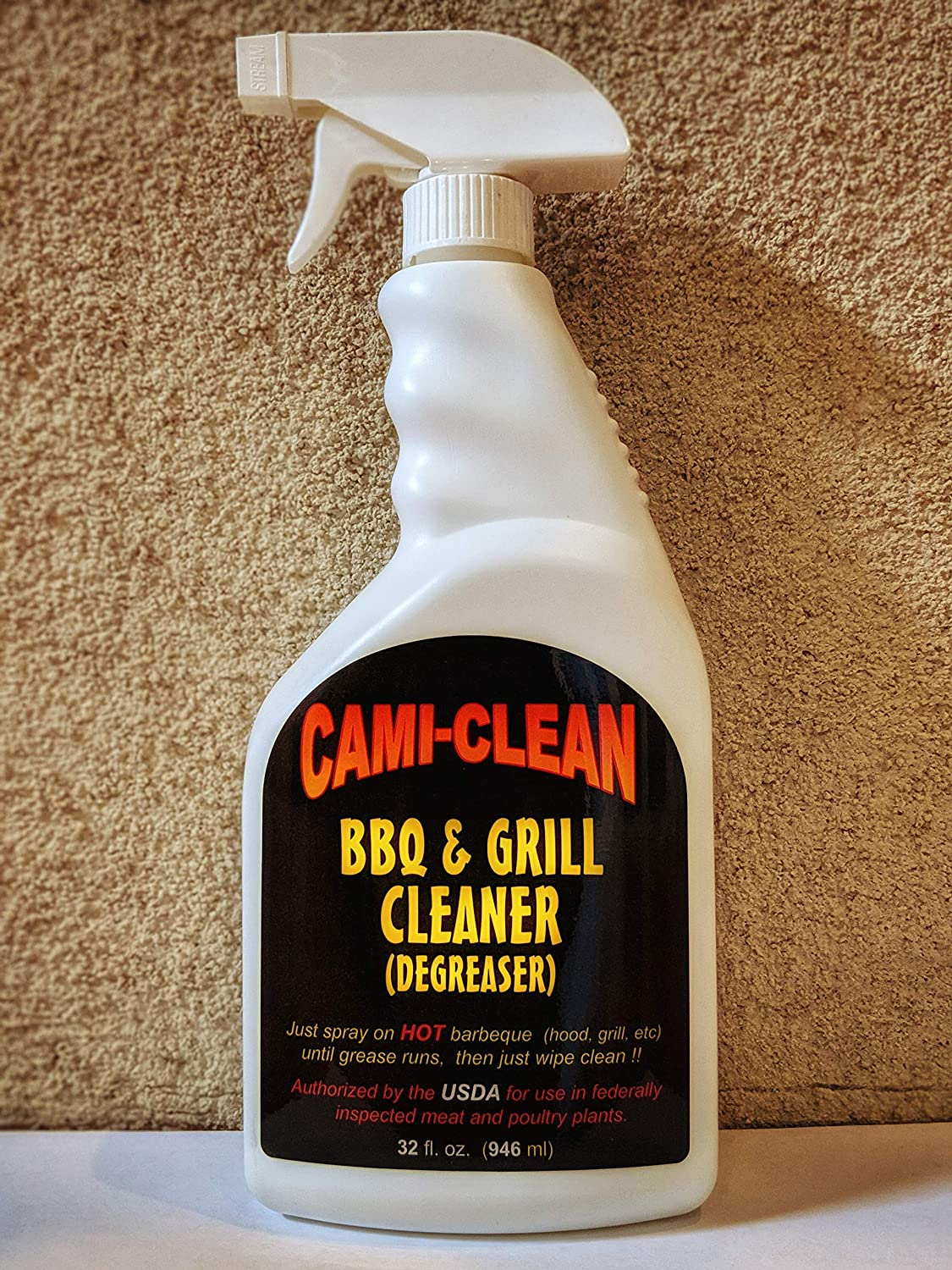 Cami-Clean BBQ & Grill Cleaner (Degreaser) - USDA Approved - Industry Favorite - Commercial Grade - Oven Cleaner & Degreaser - The Best BBQ Grill Cleaner & Degreaser