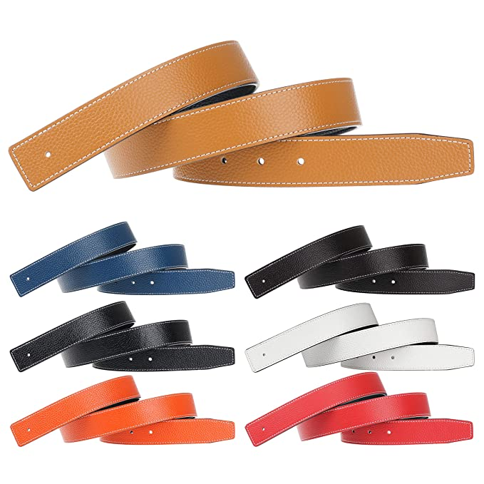Replacement Leather Belt Strap Reversible Replacement Belt Strap Genuine Leather 1 1 4in Wide For Hermes 7 Pack