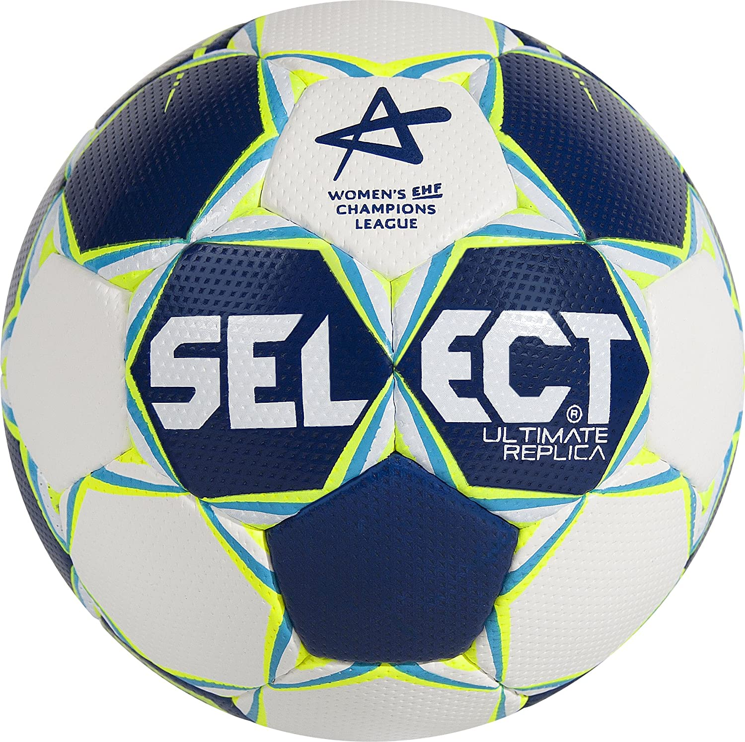 Select Balón de Balonmano Ultimate Replica CL para Mujer, Colour Blanco/Amarillo/