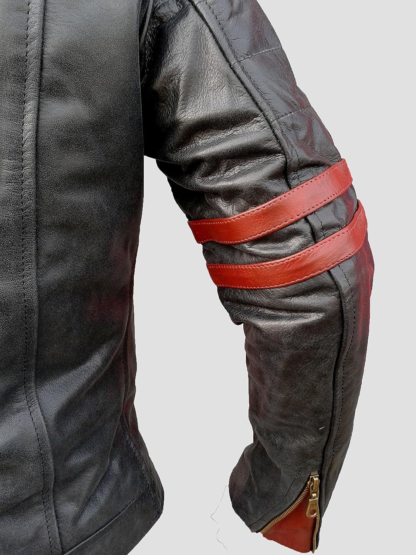 "Gr/ö/ße: 6XL PU-verst/ärkt Caf/é-Racer-Jacke CE1621 Bikers Gear Schwarz 1 Motorrad-Lederjacke /""The Rocker/"" CE-Vest/ärkung"