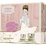 L'Oréal Paris Feuchtigkeitscreme und Augenpflege für strahlenden rosig-frischen Teint, Golden Age Gesichtspflege Geschenkset für eine gefestigte Haut, (1 x 679 g)