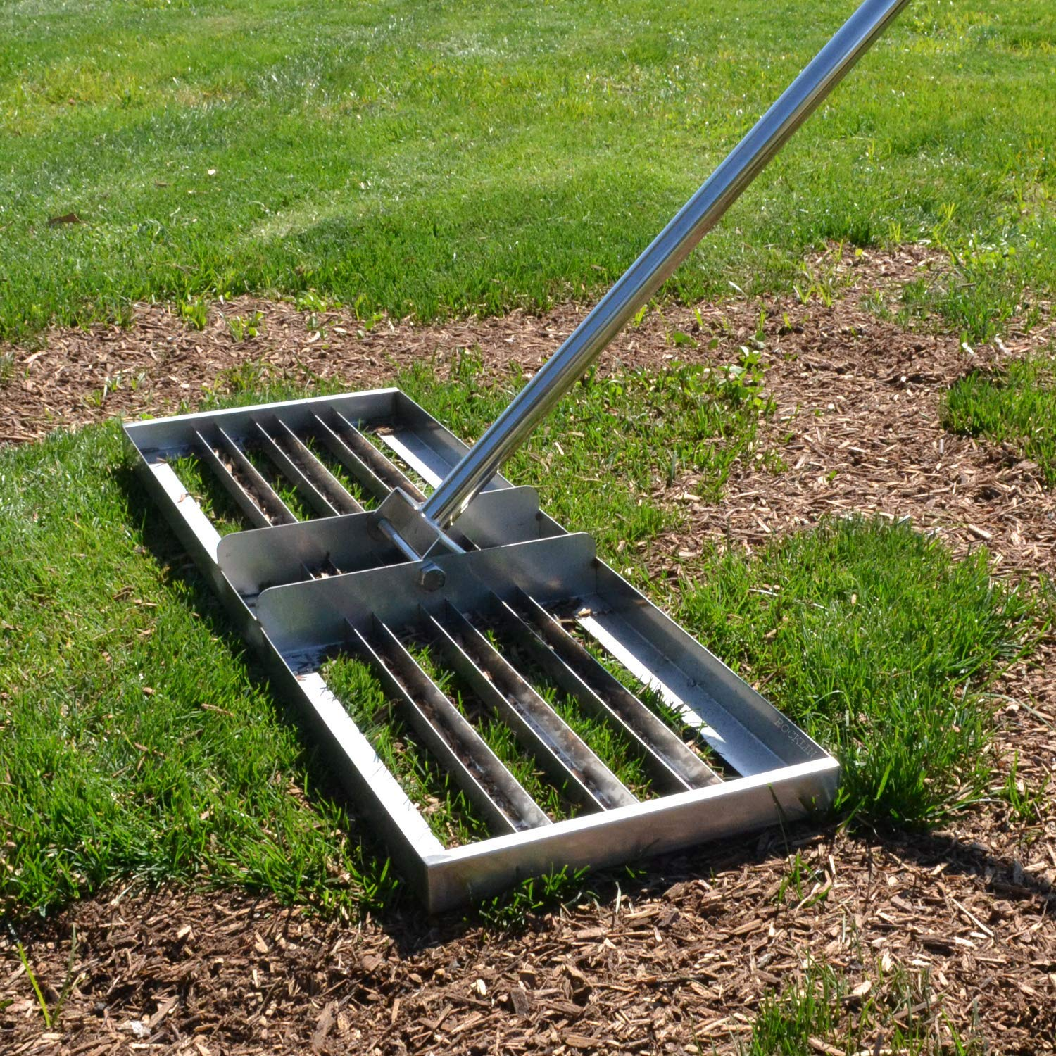"Rocklin Industry Levelawn Tool | Level Soil or Dirt Ground Surfaces Easily | 30"" x 10"" Ground Plate 