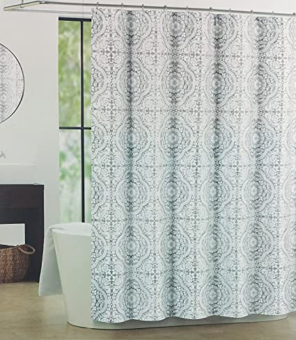 Amazon Tahari Luxury Shower Curtain Abbey Gray Medallion