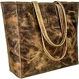 Antonio Valeria Alexis Leather Leather Tote/Top Handle Shoulder Bag for Women