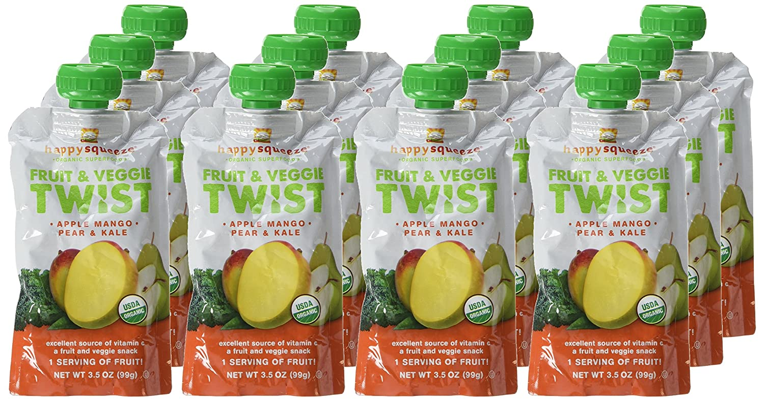 f4be199473 Happy Squeeze Organic Superfoods Fruit and Veggie Twist Apple Mango and Kale  12