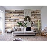 Komar 8-920 8-920 Whitewashed Wood Wall Mural