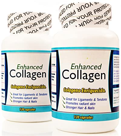 Colageno Hidrolizado en capsulas. Set DE 2 frascos. Enriquecido con aminoacidos. para la