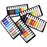 50 Student Grade Acrylic Paint Set - Ideal for Canvas Panels, Canvas Boards & Stretched Canvas