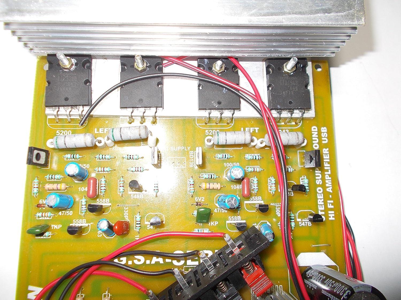 Soumik Electricals 1000 Watt Amplifier Board Power 1200w Circuit Sanken Electronic Electronics