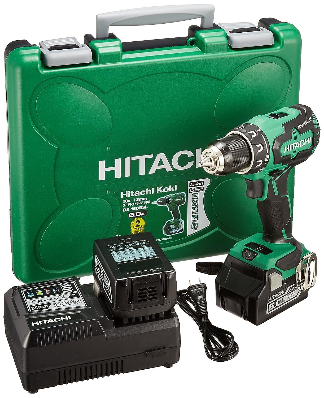 日立工機 18V コードレスドライバドリル 充電式 蓄電池、充電器別売り DS18DBSL(NN) 本体のみ B01M0MNTAP 蓄電池、充電器別売り