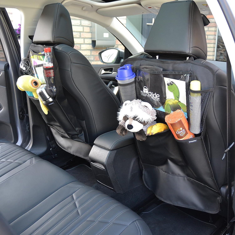 imperm/éable avec compartiment pour iPad//tablette et poches Protection anti-coups de pieds des enfants Organiseur de si/ège de voiture lot de 2 Avec des poches, 2 Ajustement universel