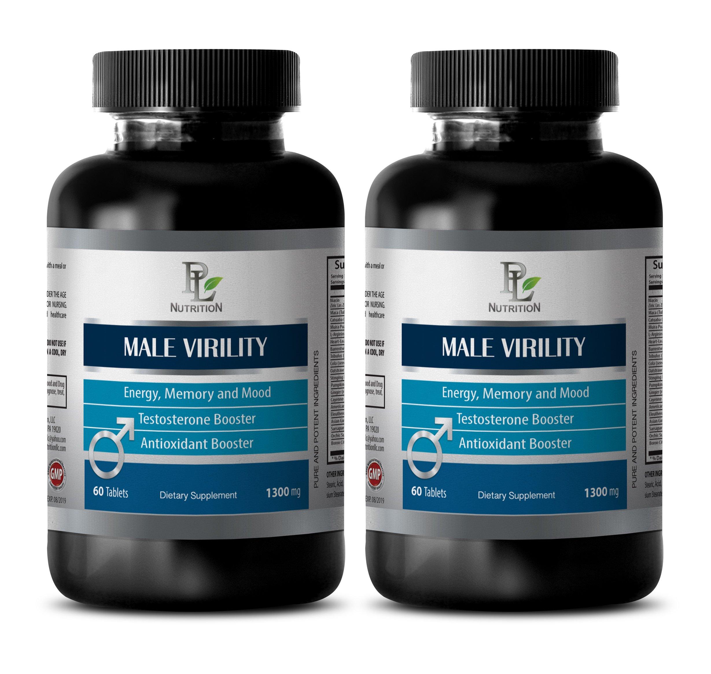 Libido supplements men - MALE VIRILITY - Boost libido - 2 Bottles 120 tablets