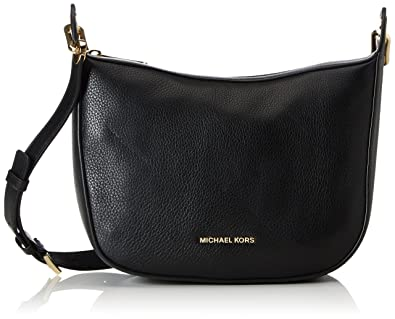 37cbe1f6b5ef Michael Kors Raven Medium Messenger, Women's Shoulder Bag, Schwarz (Black),  9x18x26
