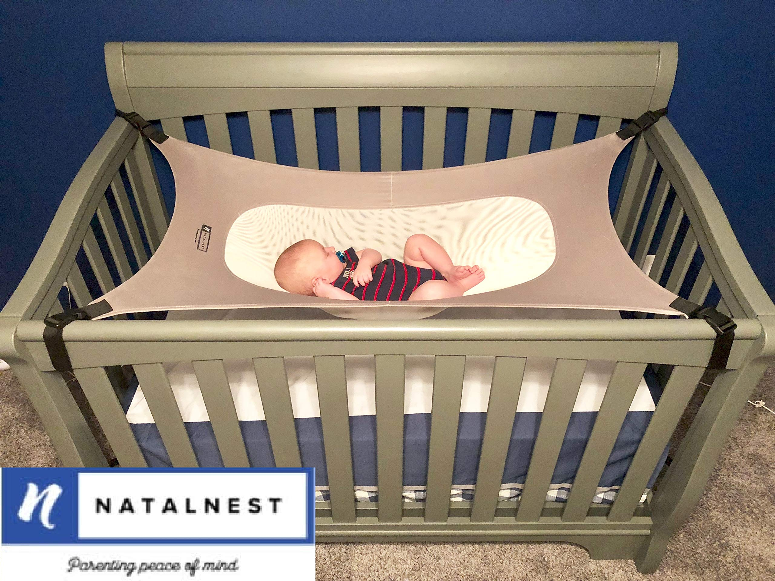 Natal Nest Baby Crib Hammock, Premium Breathable Materials, Quality Ensured Infant Nursery Bed for Infants 0-9 Months. by Natal Nest