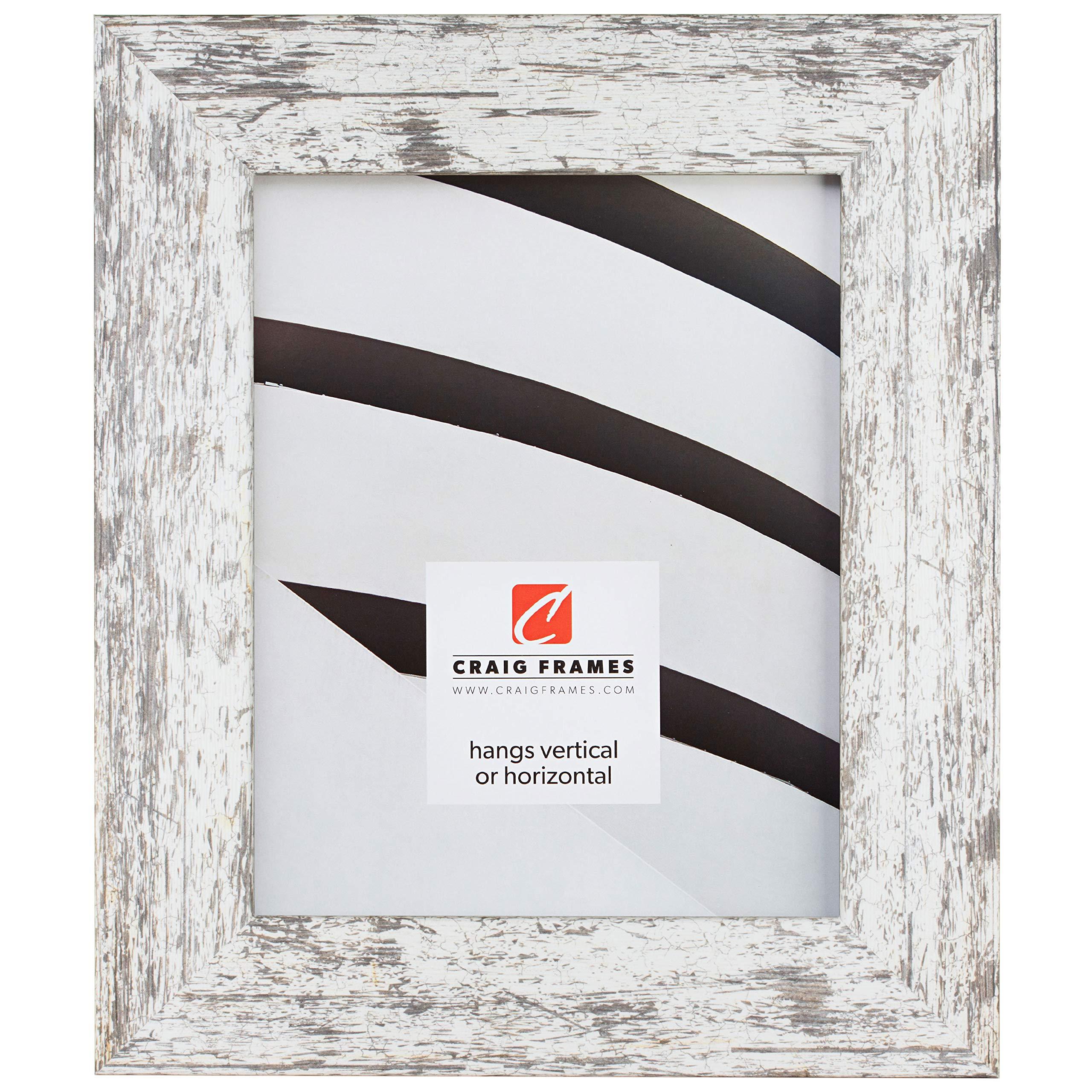 Craig Frames American Barn, Faux Barnwood Picture Frame, White, 16 x 20 Inch by Craig Frames