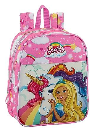 Barbie 2018 Mochila Infantil, 27 cm, 6 litros, Rosa Claro: Amazon.es: Equipaje