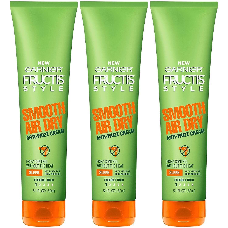 Garnier Hair Care Fructis Style Smooth Air Dry Anti-Frizz Cream, 3 Count