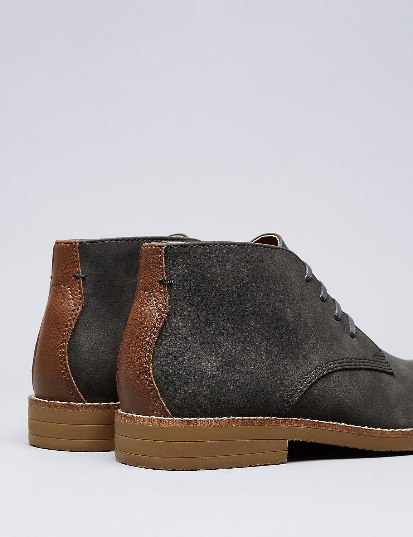 FIND Herren Herren FIND Desert Boots Grau (Charcoal) d4153b