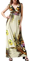 Wantdo Women's Beach Dress Bohemian Maxi Dress Plus size
