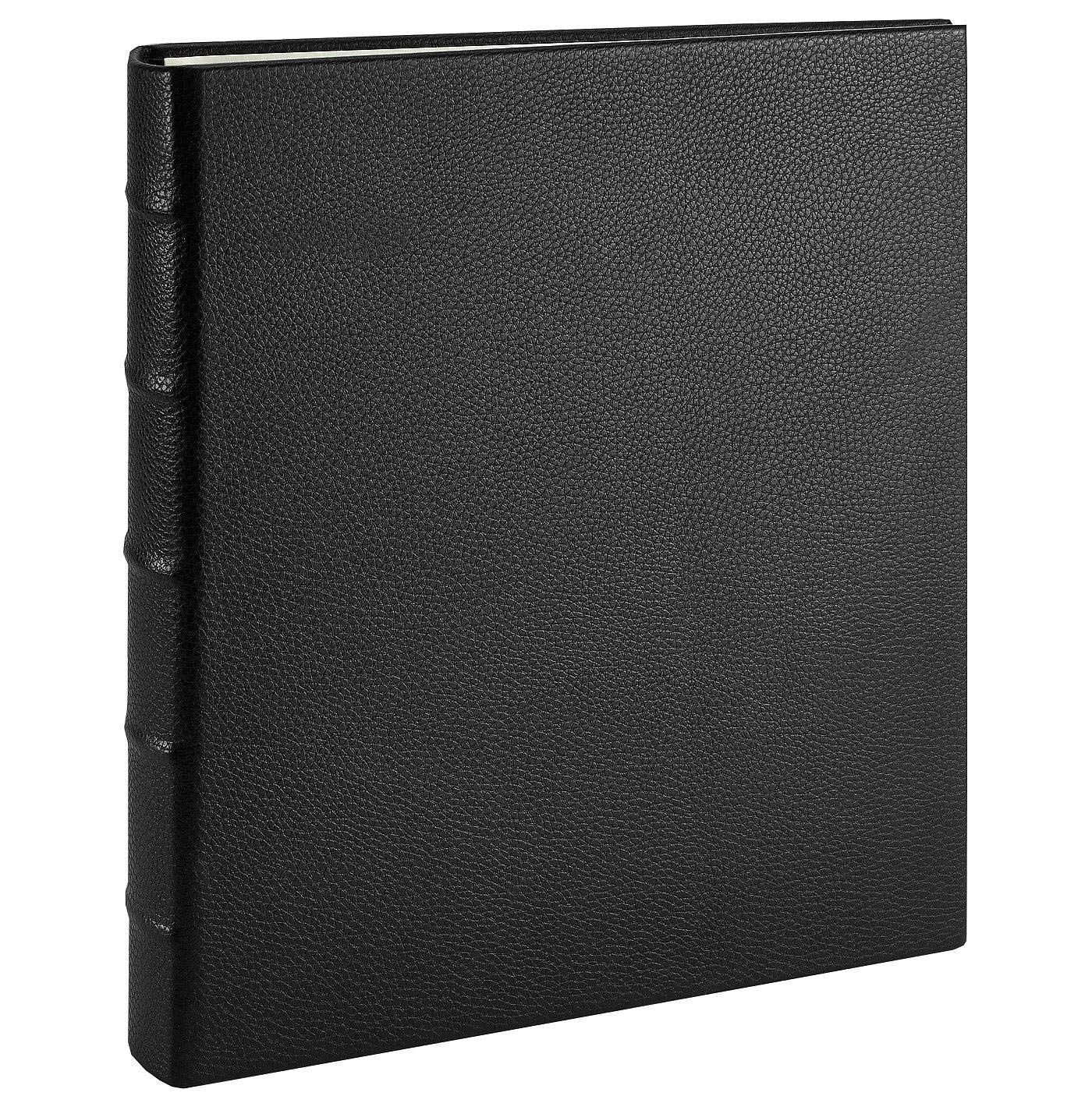 Post Impressions™ System standard 3-ring Black Pebble-Grain Eco-Leather binder unfilled - 8.5x11