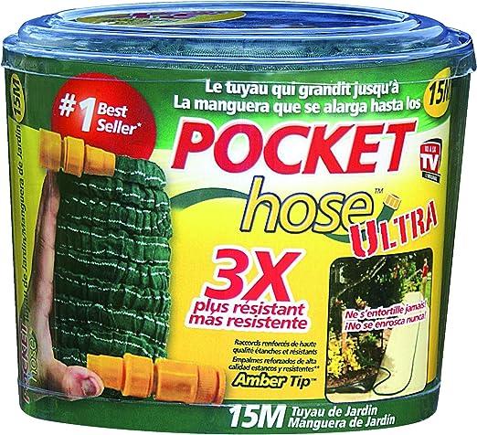 Pocket Hose Ultra Tuyau Darrosage Extensible Rétractable 75 M Vert Vu à La Télé