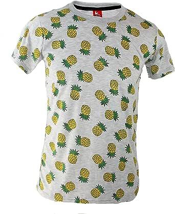 TRANKILO Camiseta Estampado de piñas (S): Amazon.es: Ropa y accesorios