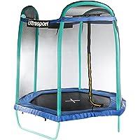 Ultrasport Gartentrampolin, Jumper Sechseck 213 cm, Kindertrampolin inkl. Sicherheitsnetz und gepolsterten Stahlbügeln